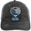 Hats Black/Grey / One Size My Hero Wears Blue - Embroidery Trucker Cap