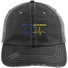 Hats Black/Grey / One Size TBL x Dispatcher Half Heartbeat Embroidery Trucker Cap