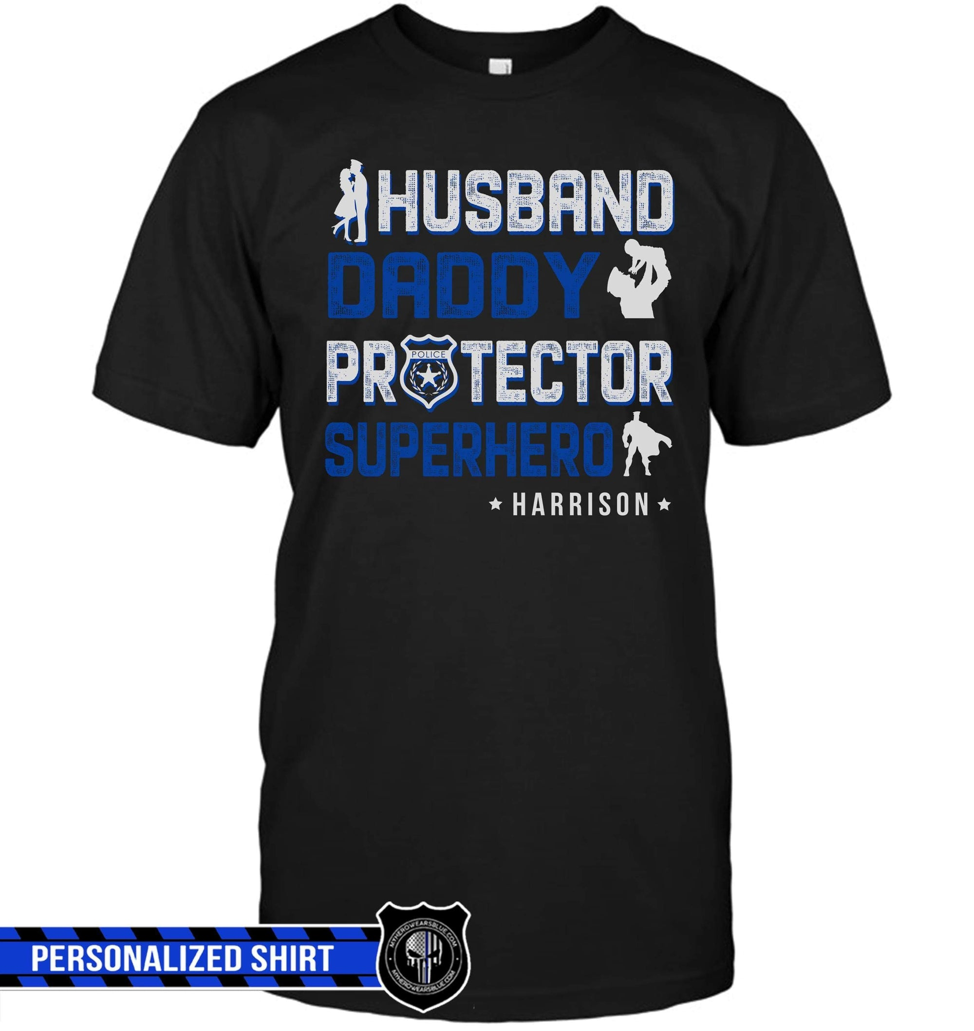 7af84753 T-shirts Basic Unisex Tee / XS / Black Personalized Shirt - Husband Daddy  Protector