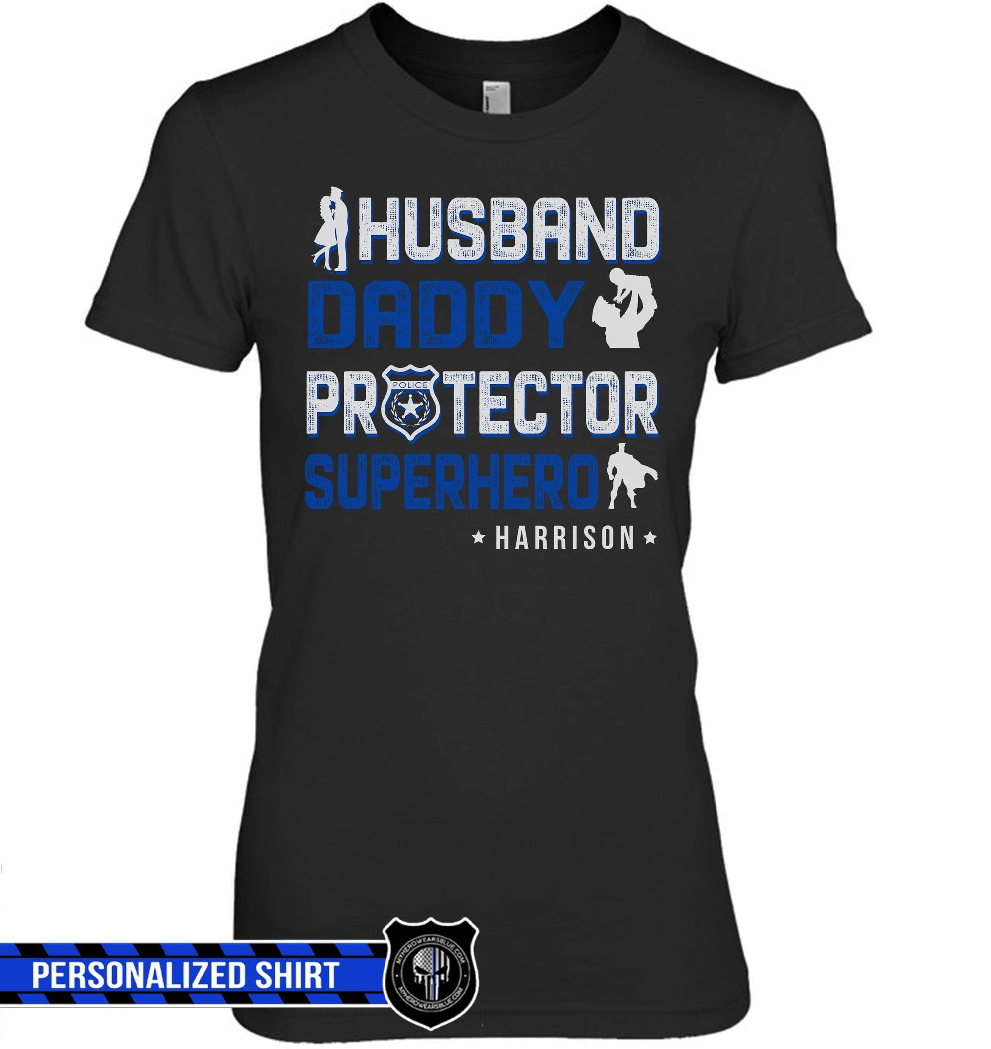 dc02ad84 T-shirts Basic Women's Tee / XS / Black Personalized Shirt - Husband Daddy  Protector