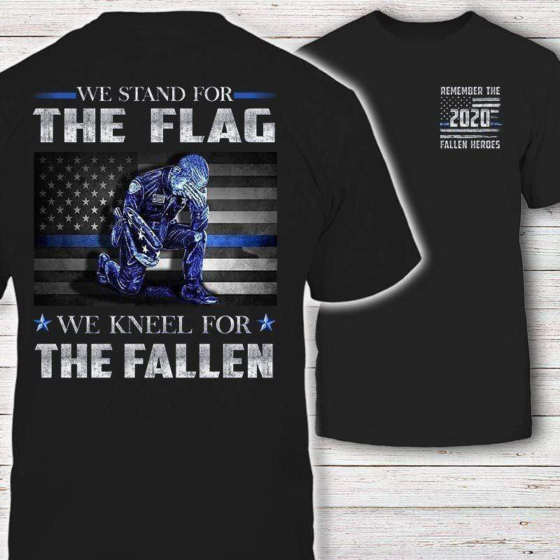 Stand For The Flag Kneel For The Fallen T-Shirt