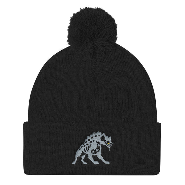 Goldtooth Hyena Pom Pom Knit Cap