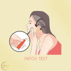 Always do patch test for new beauty products by F.Y.N Professional