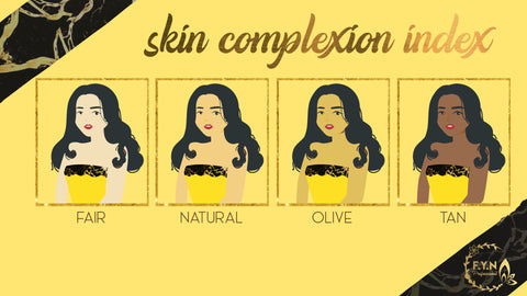 Skin Complexion/Colour Index by F.Y.N Professional