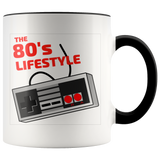 80's lifestyle 2 toned 11oz coffee mug
