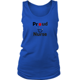 Proud Nurse womens Racerback Tank Top