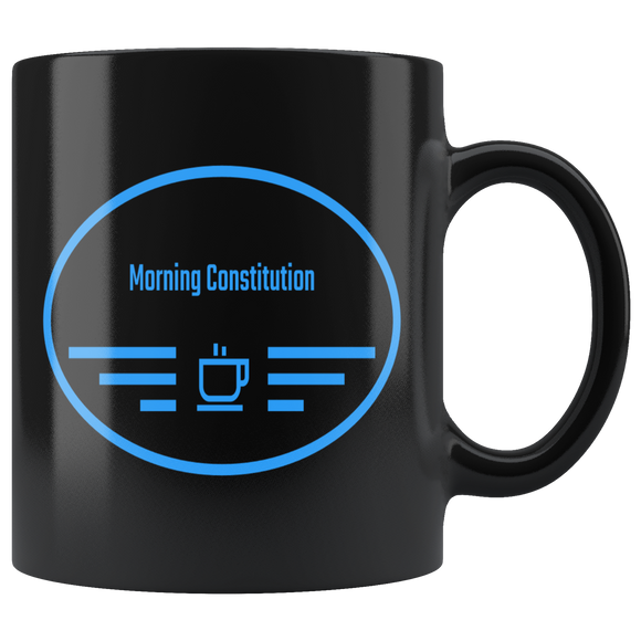 Black Morning Constitution Coffee Mug