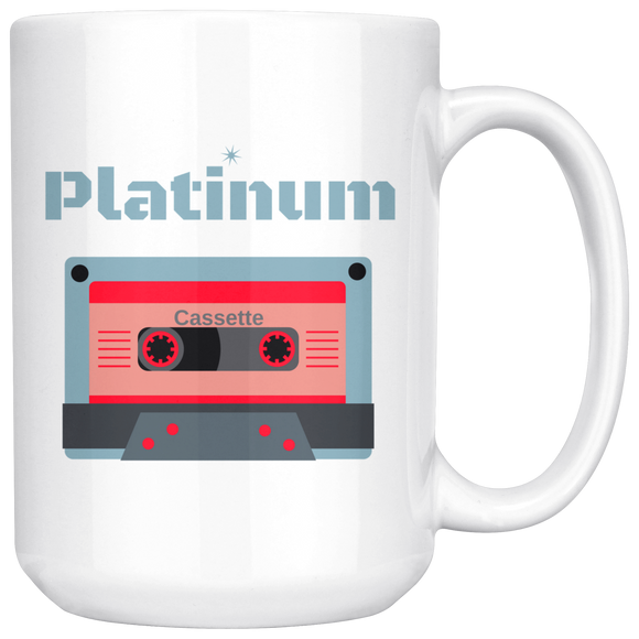 Platinum Cassette 15oz Coffee Mug