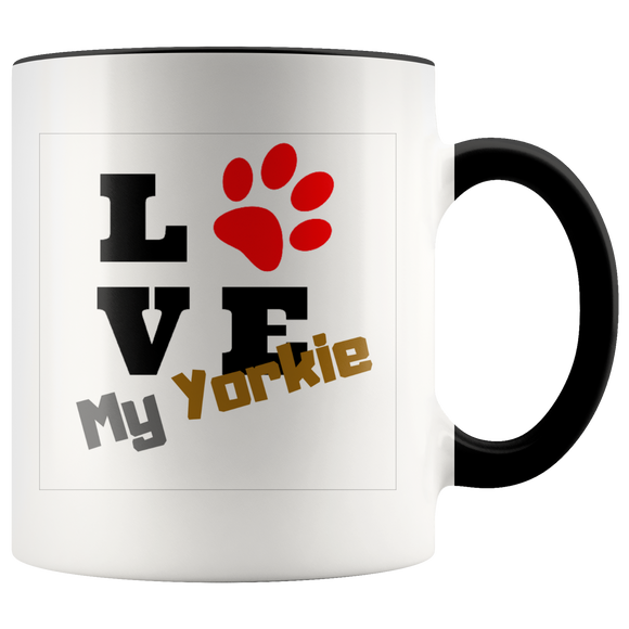 Love My Yorkie two toned 11oz Coffee Mug