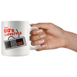 80's lifestyle 11oz white coffee mug