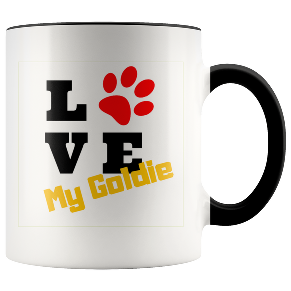 Love My Goldie 11oz multi-color coffee Mug