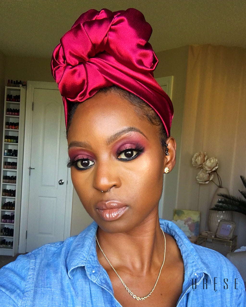 Burgundy Quartz Silky Headwrap