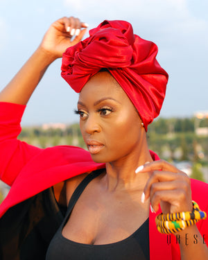Smoked Ruby Silky Headwrap