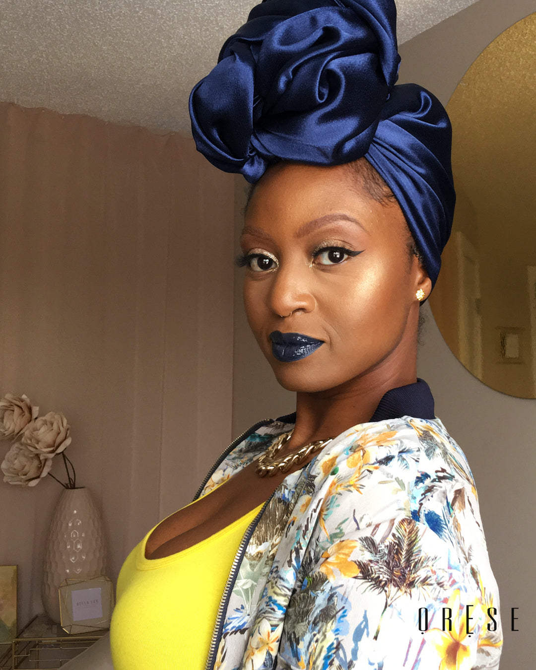 Midnight Diamond Silky Headwrap