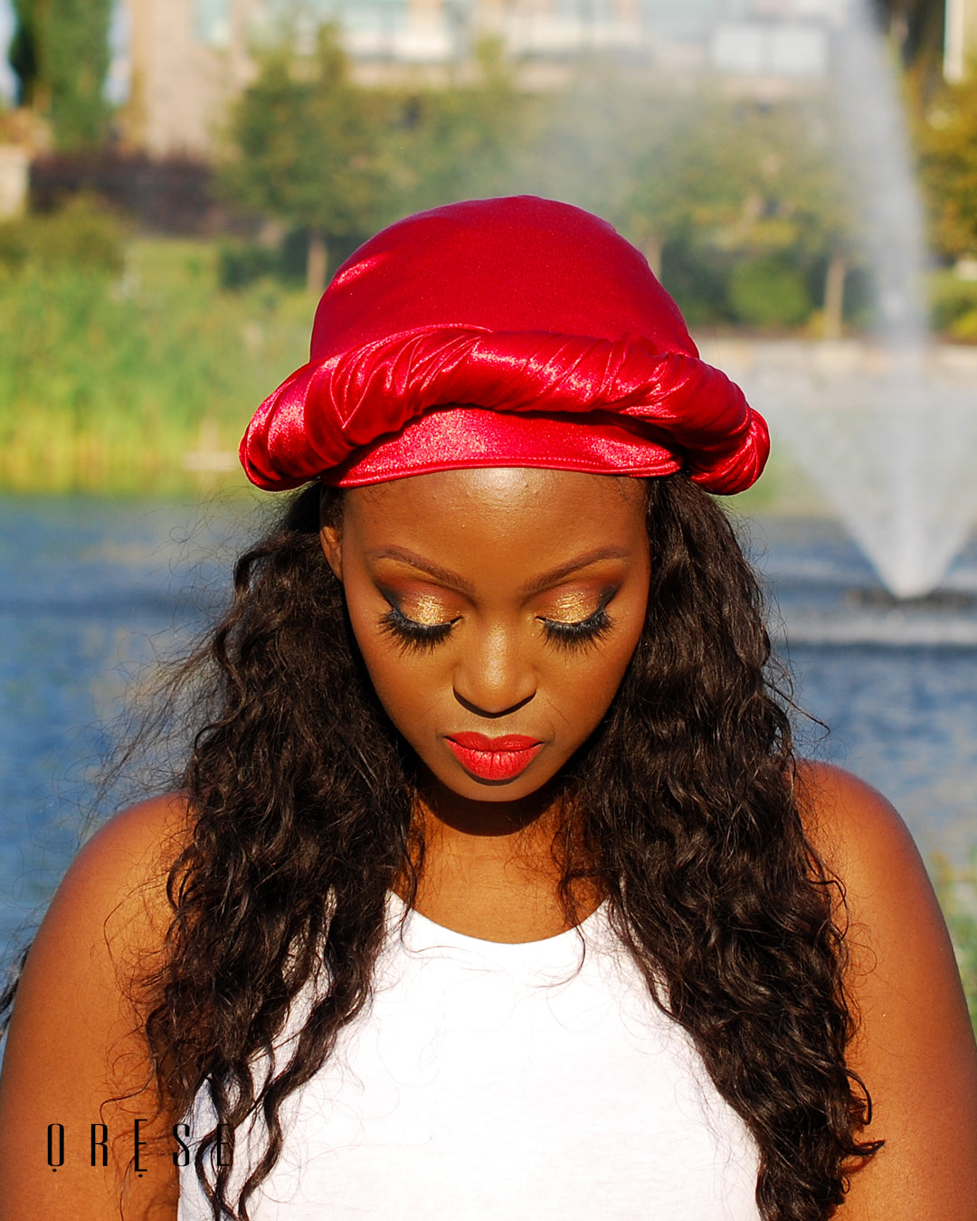 Strawberry Coral Silky Headwrap