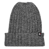 Ribbed Fold Beanie Heather Grey