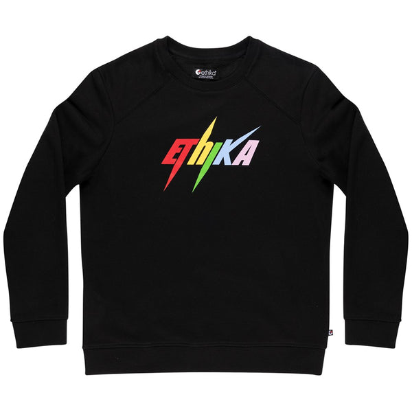 Mens Ethika Bolt Crew Fleece - Black