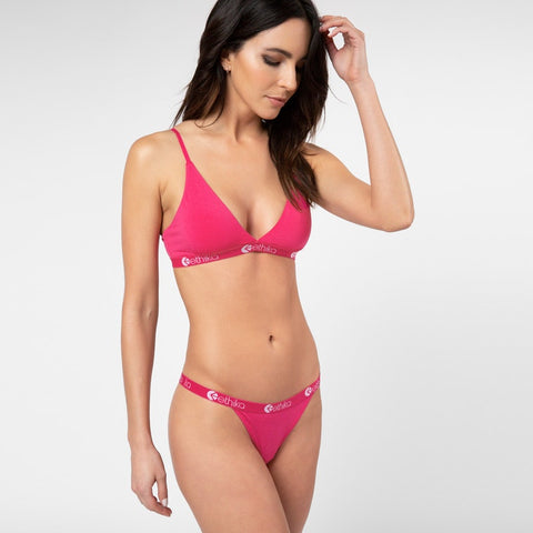 Punk Pink Triangle Bra