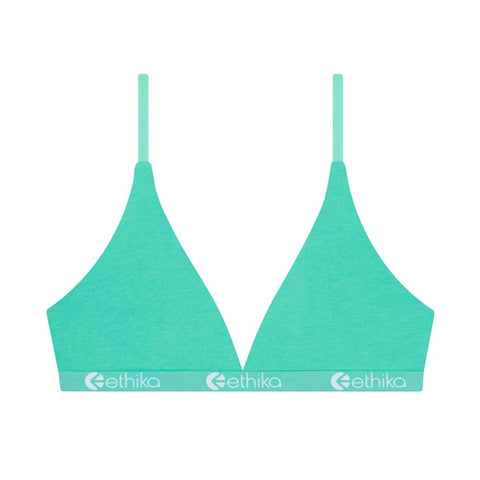 Grunge Teal Triangle Bra