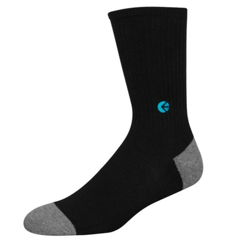 Black Crew Socks - Blue Logo