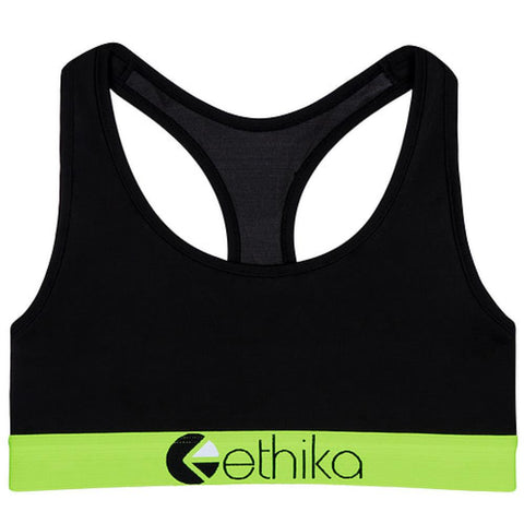 Subzero Green/Black Sports Bra