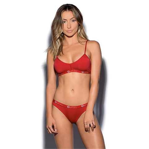 Red Nylon Bralette
