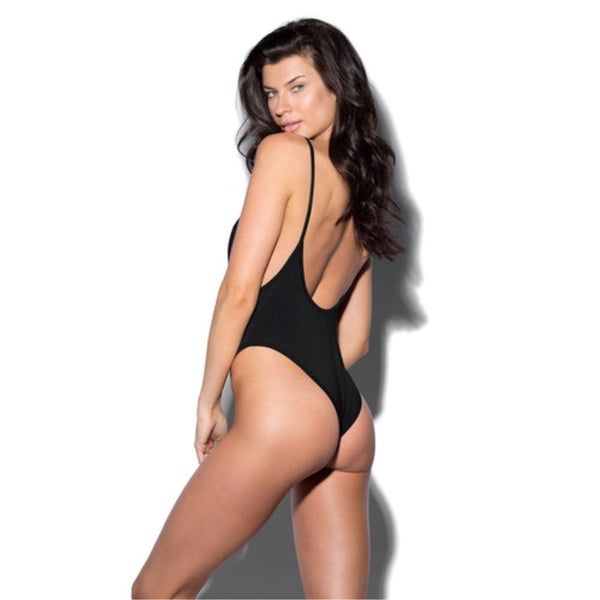 Black Nylon Bodysuit