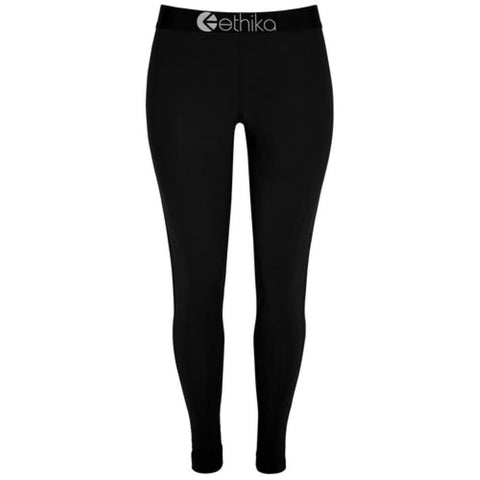 Black Nylon Women's Leggings
