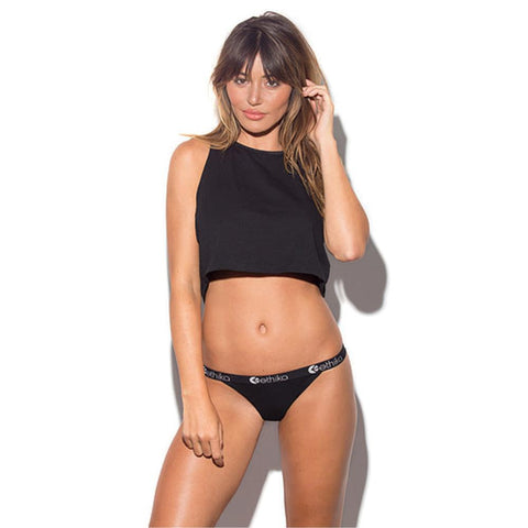 Midnight Black Brazilian Thong
