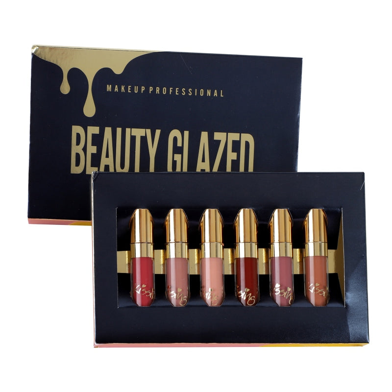BEAUTY GLAZED  Matte Lipstick 6 piece set