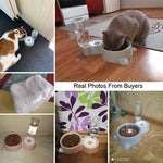 Pet Feeder with Water Bottle