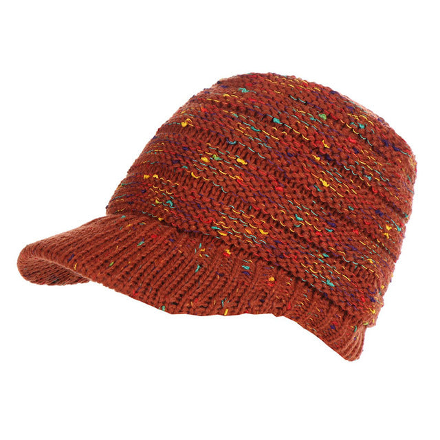 Ponytail Knitted Beanie Cap