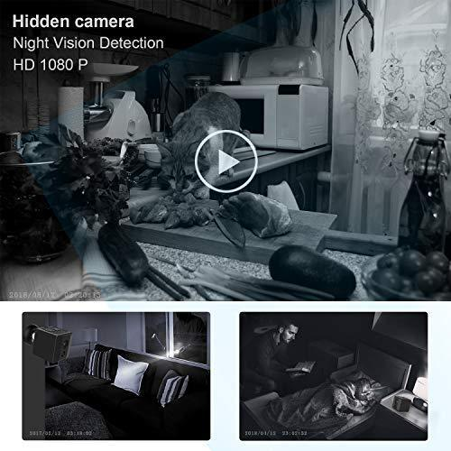 DZFtech [Upgrade Version] Mini Spy Camera Cop Spy Cam 1080P Spy Camera Wireless Hidden Support 128 gb Card Mini Camera Spy Hidden Spy Camera-No WiFi Needed-Nanny Cam with Night Vision and Motion Detection