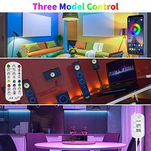 ehomful 65.6ft LED Strip Lights, Ultra-Long Bluetooth APP Control LED Light Strip with Remote,ehomful 600LEDs RGB LED Lights for Bedroom,Music Sync Color Changing DIY for Room,Home,Kitchen, Party Christmas