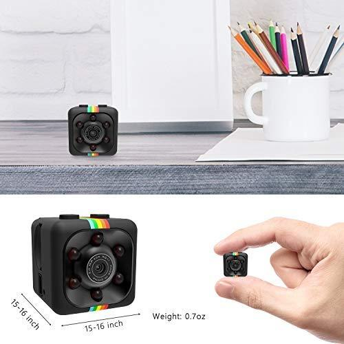 ehomful Cop Spy Cam As Seen On TV Mini Camera Wireless Hidden,ehomful 1080P Body Camera Action Camera, Convert Security Nanny Cam with Night Vision and Motion Activated for Home,Car,Office Indoor and Outdoor