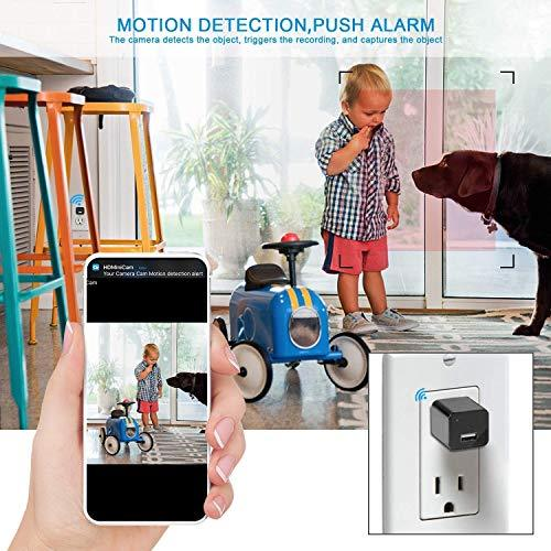 ehomful Hidden Camera Charger WiFi,USB Spy Camera Charger,Spy Cameras Wireless Hidden 1080P HD Live Streaming with App, Nanny Cam Motion Activated,with 32GB MicroSD Card Class 10