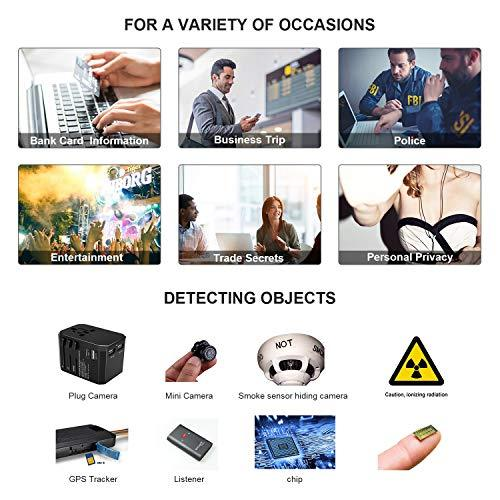ehomful Hidden Camera Detector, RF Detector & Camera Finder, Bug Detector, Counter Surveillance ,Anti Spy Camera Detectors with Compass,Locates Hidden Device in Office,Hotel Rooms,Airbnb Excursions,Bathrooms