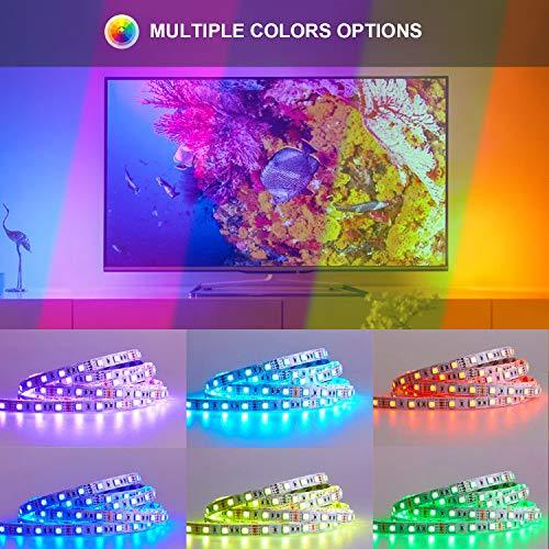 ehomful LED Strip Lights, 16.4ft RGB Led Light Strip with Remote Color Changing 5050 LED Rope Lights Strip Sync to Music for Home Bedroom Lighting