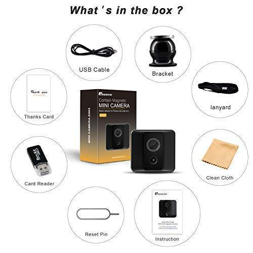 ehomful Mini Spy Camera 1080P Cop Spy Cam As Seen On TV-Spy Camera Wireless Hidden-Mini Camera Spy Wireless-Hidden Spy Camera -Nanny Cam with Night Vision and Motion Detection-Built-in Battery-No WiFi Needed