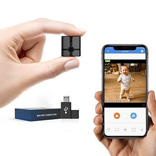 ehomful Mini Spy Camera WiFi, Ehomful 1080P HD Wireless Hidden Camera Live Streaming with App,Cop Spy Cam Seen On TV, Nanny Cam, Keep Your Home and Family Safe from Potential Thieves, Burglars or Damage
