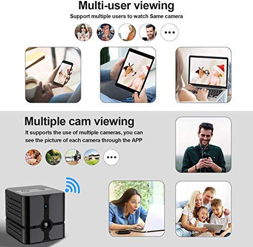 ehomful Spy Camera Wireless Hidden Camera Cop Spy Cam, Ehomful WiFi Mini Body Camera Portable Home Security Cameras Covert Small Nanny Cam with App 1080P Night Vision Motion Activated Indoor and Outdoor