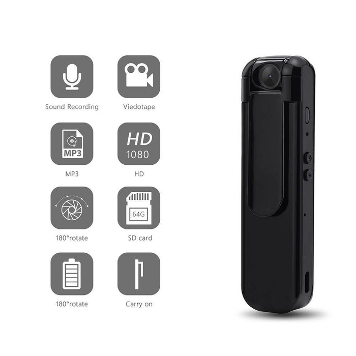 Ehomful The Funny Camera Club body worn camera E018-Ehomful Mini Body MP3 Spy Camera,HD with MP3 Hidden design