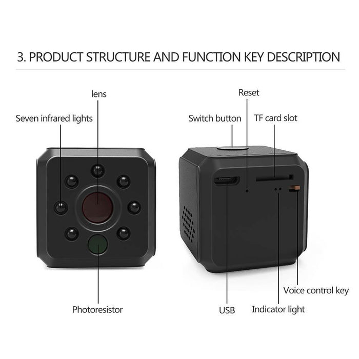 Ehomful The Funny Camera Club Hidden camara E015-Ehomful Mini Wifi Hidden Camera , Night Vision WIFI,HD