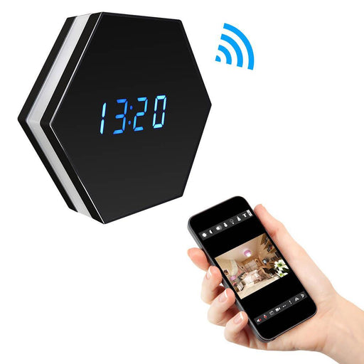Ehomful The Funny Camera Club hidden camera E032-Ehomful Alarm Clock Spy Mirror Camera, WIFI ,HD