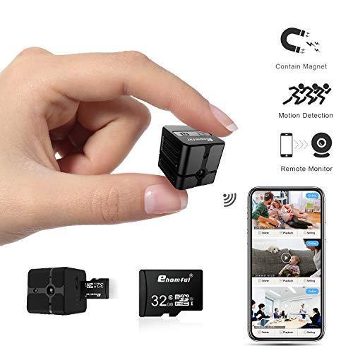 Ehomful The Funny Camera Club Hidden Spy Cameras E002-Ehomful Smallest Wifi Hidden Spy Camera, Coin Size,1080P