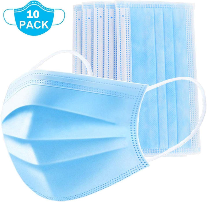 Ehomful The Funny Camera Club Safety Masks Safety Masks 10 PCS Disposable Oral Face Masks, 3 Layers of Protection Against Pollution