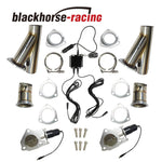 3 Inch One Control Two Remote Catback Pair Electric Exhaust Cutout Pipe Kits New