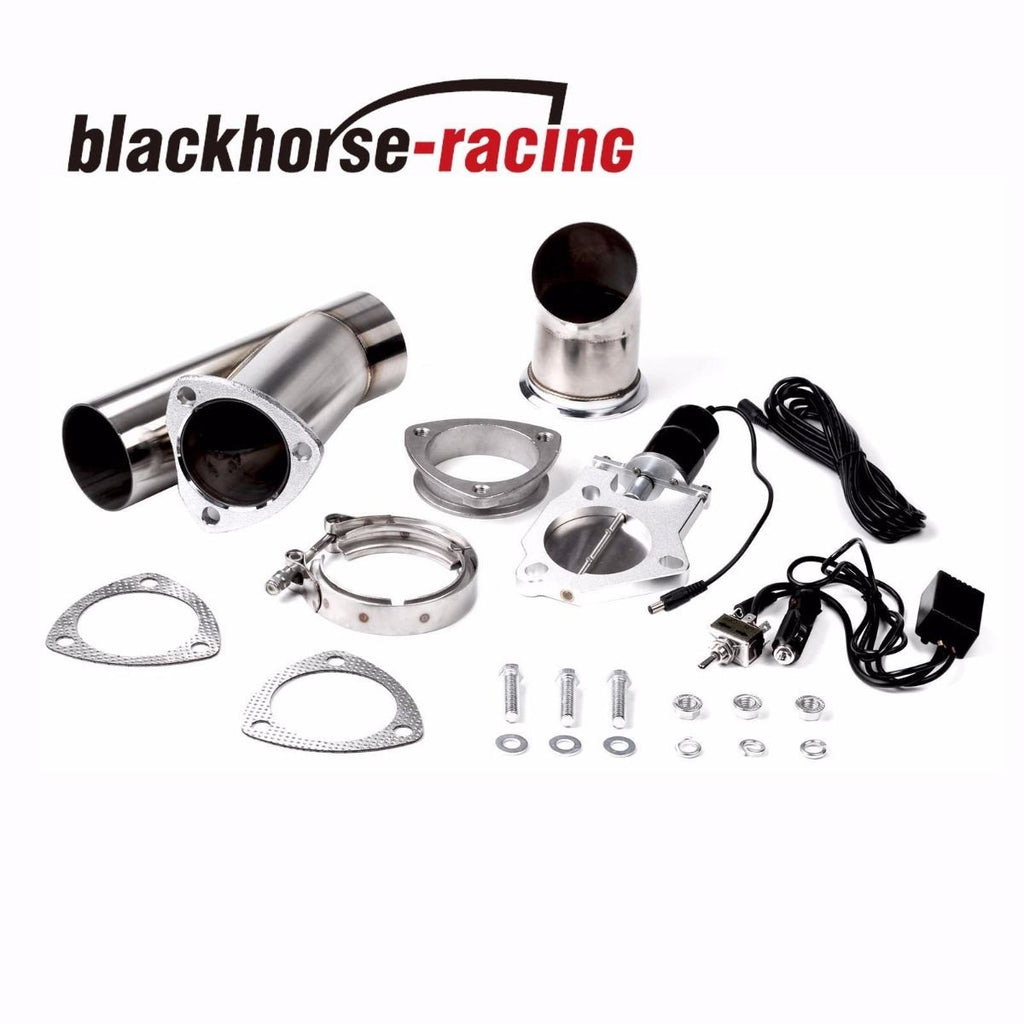 3 Inch 76mm Mannal Electric Exhaust Catback Downpipe Cutout E-Cut Out Valve System
