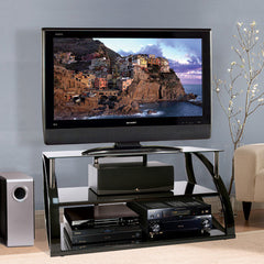 "Premium TV Stand for up to 56"" TVs - High Gloss Finish"