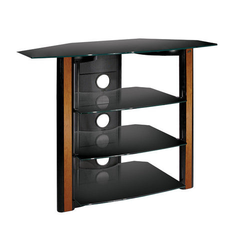"""bedroom height tv stand for up to 42"""" tv - wood trim - toptvmounts"""